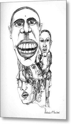 Distortion Metal Print by Padamvir Singh