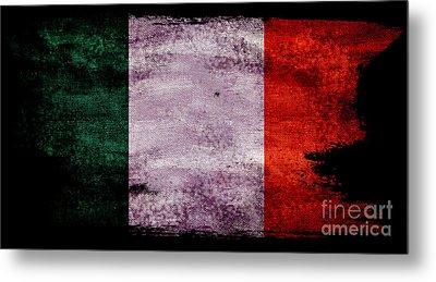 Distressed Flag Of Ireland Metal Print
