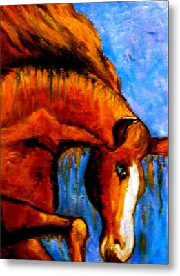 Metal Print featuring the painting Divine Equine by Marie Hamby