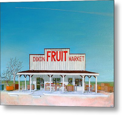 Dixon Fruit Market 1992 Metal Print by Wingsdomain Art and Photography