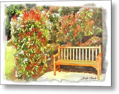 Metal Print featuring the photograph Do-00122 Inviting Bench by Digital Oil
