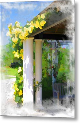 Metal Print featuring the photograph Do-00137 Yellow Roses by Digital Oil