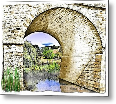 Metal Print featuring the photograph Do-00262 Richmond Bridge by Digital Oil