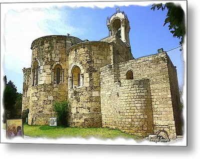 Metal Print featuring the photograph Do-00344 Church Of St John Marcus In Byblos by Digital Oil