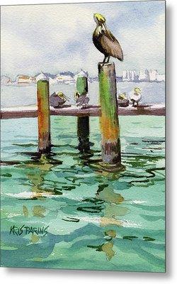 Dock O' The Bay Metal Print by Kris Parins