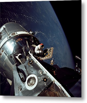 Docked Apollo 9 Command And Service Metal Print by Stocktrek Images