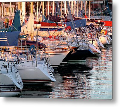Docked Yatchs Metal Print