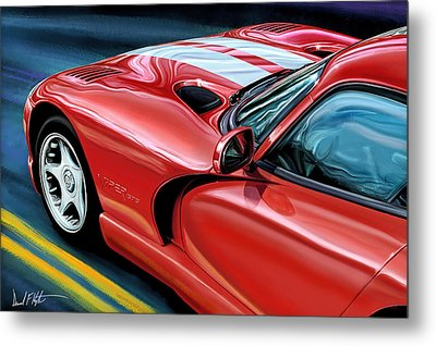 Dodge Viper Coupe Metal Print by David Kyte