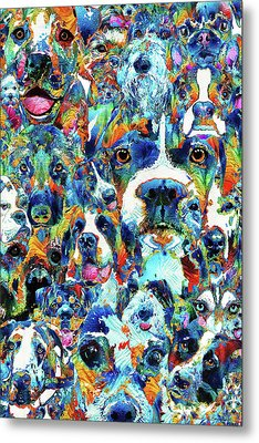 Dog Lovers Delight - Sharon Cummings Metal Print