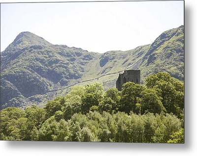 Dolbadarn Castle.  Metal Print by Christopher Rowlands