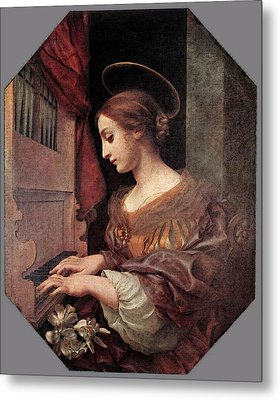 Dolci Carlo St Cecilia At The Organ Metal Print