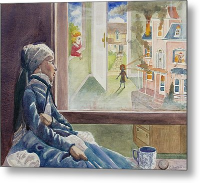 Dollhouse Dream Metal Print