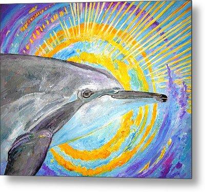 Dolphin Ray Metal Print by Tamara Tavernier