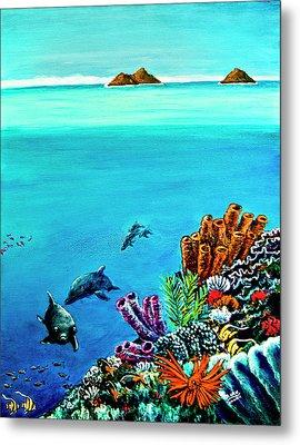 Dolphins Moorish Idle Lion Fish #253 Metal Print by Donald k Hall