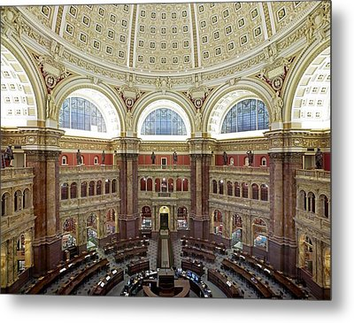 Domed Main Reading Room Metal Print by Everett