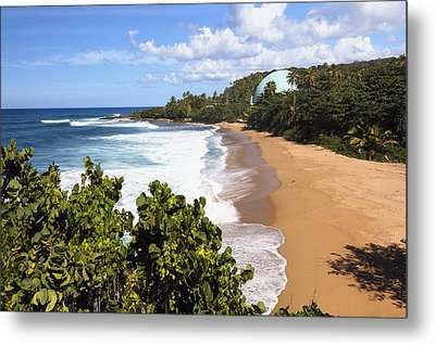 Domes Beach Rincon Puerto Rico Metal Print by George Oze