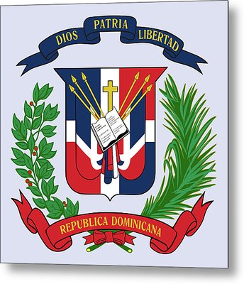 Dominican Republic Coat Of Arms Metal Print