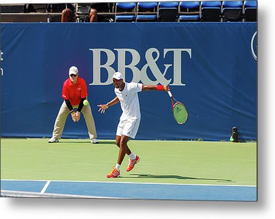 Donald Young Plays In The Winston-salem Open. Metal Print