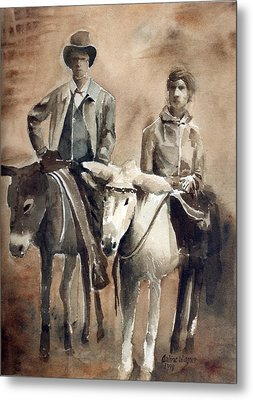 Donkey Ride Metal Print by Arline Wagner