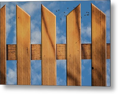 Metal Print featuring the photograph Don't Take A Fence by Paul Wear