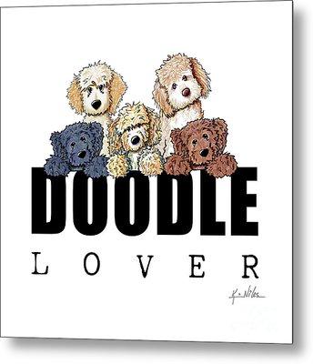 Doodle Lover Metal Print by Kim Niles