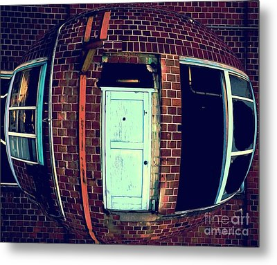 Metal Print featuring the photograph Door To Nowhere by Yulia Kazansky