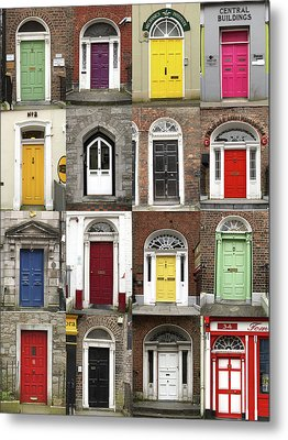 Metal Print featuring the photograph Doors Of Limerick by Marie Leslie