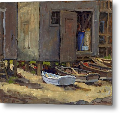 Dories On Fish Beach Metal Print by Thor Wickstrom