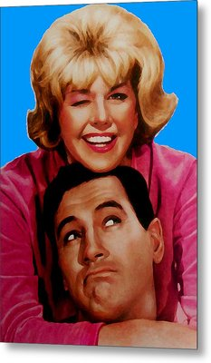 Doris Day Rock Hudson  Metal Print by Paul Van Scott