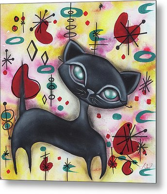 Dorothy Cat Metal Print by Abril Andrade Griffith