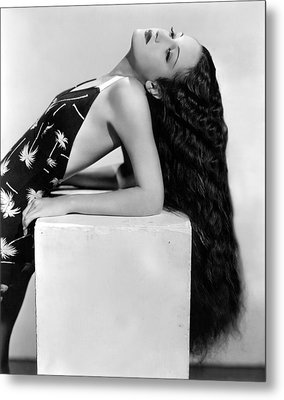 Dorothy Lamour, Paramount Pictures, 1936 Metal Print