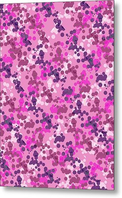 Dotted Camo Metal Print by Louisa Knight