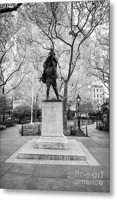 doughboy statue in abingdon square park greenwich village New York City USA Metal Print
