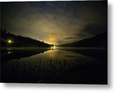 Metal Print featuring the photograph Douthat Lake Night by Alan Raasch