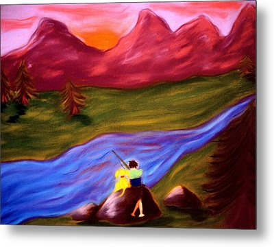 Down By The River Metal Print by Christine Crosby