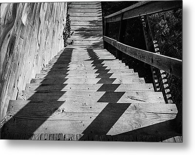 Down Stairs At Bannack Metal Print