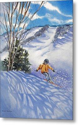 Downhill-rhythm Metal Print by Nancy Newman