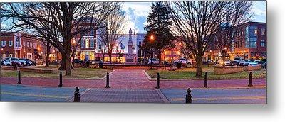 Downtown Bentonville Arkansas Town Square Panoramic  Metal Print
