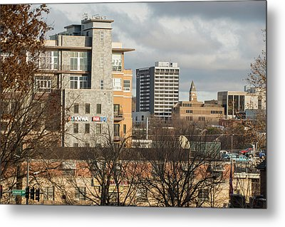 Downtown Fayetteville Arkansas Skyline - Dickson Street Metal Print by Gregory Ballos