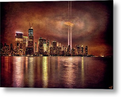 Downtown Manhattan September Eleventh Metal Print by Chris Lord