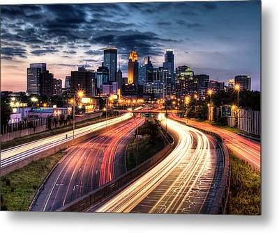 Downtown Minneapolis Skyscrapers Metal Print