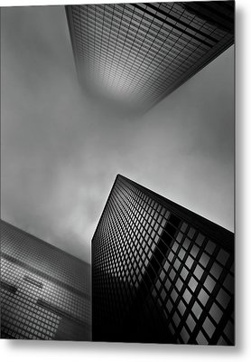 Metal Print featuring the photograph Downtown Toronto Fogfest No 1 by Brian Carson