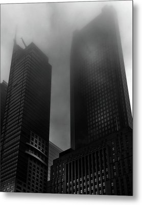 Metal Print featuring the photograph Downtown Toronto Fogfest No 2 by Brian Carson