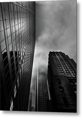Metal Print featuring the photograph Downtown Toronto Fogfest No 4 by Brian Carson