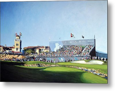 Dp World Tour Championship 2015 - Open Edition Metal Print by Mark Robinson