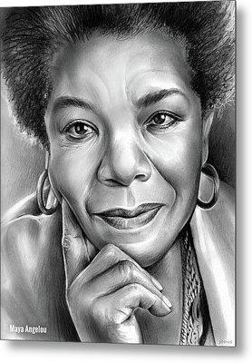 Dr Maya Angelou Metal Print