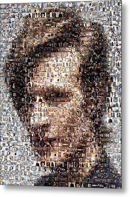 Dr. Who Mosaic Metal Print by Paul Van Scott