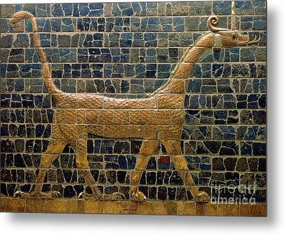 Dragon Of Marduk - On The Ishtar Gate Metal Print by Anonymous