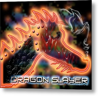 Dragon Slayer Metal Print by Cheri Doyle