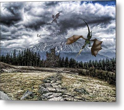 Dragon Trail. Metal Print by Anastasia Michaels